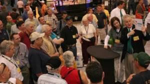 magician at ConExpo trade show